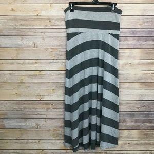 Gap Maternity Stripe Yoga Maxi Skirt Size S